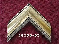 Багет пластиковый,  состаренное золото с лепниной. Оформление, вышивок, икон