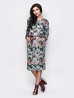 Женственное платье из мягкого трикотажа с цветочным принтом