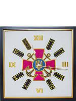"""Часы настенные с гербом """"ВМС"""" Украины"""