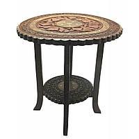 Столик кофейный круглый розовое дерево