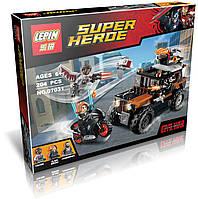 """Конструктор Lepin аналог LEGO Super Heroes 76050 """" Опасное ограбление Кроссбоунса """"  204 дет."""