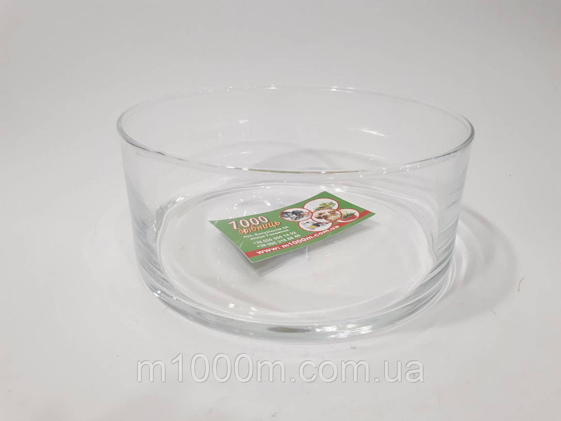 Ваза стеклянная Салатерка Н 10см, D 25см