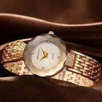 Стильные женские наручные кварцевые часы Baosaili баосали золотые с белым баосаили