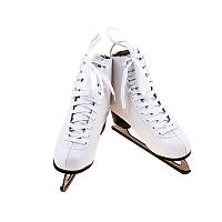 Белые фигурные коньки женские ТК-082W, PU, размер 38-41