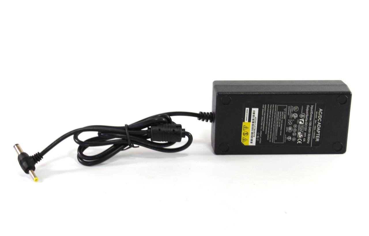 Адаптер 12V 3A Пластик + кабель  разъём 5.5*2.5mm    100