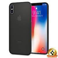 Чехол Spigen для iPhone X Air Skin, Black, фото 1