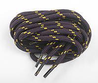 Шнурки для обуви трекинговые CORBBY 120 см круглые, цв. коричнево-желтый