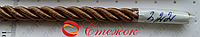 Шнур декоративный 11мм , 90м,  коричневый