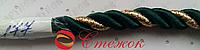 Шнур декоративный 11мм , 90м, темно-зеленый
