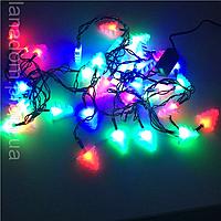 Новогодняя гирлянда со светодиодами и фигурками «ЕЛОЧКА» 5 м 40 лампочек