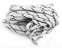 Шнурки для обуви трекинговые CORBBY 120 см круглые, цв. бежево-черный
