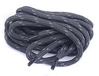 Шнурки для обуви трекинговые CORBBY 120 см круглые, цв. графитово-серые