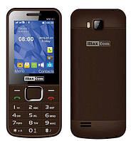 """Мобильный телефон Maxcom MM141 Brown коричневый (2SIM) 2,4"""" 0,3Мп оригинал Гарантия!"""