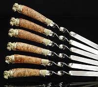"""Набор широких шампуров """"Мастиф"""" (6шт, 3мм) в тканевом кейсе (наличие уточняйте)"""