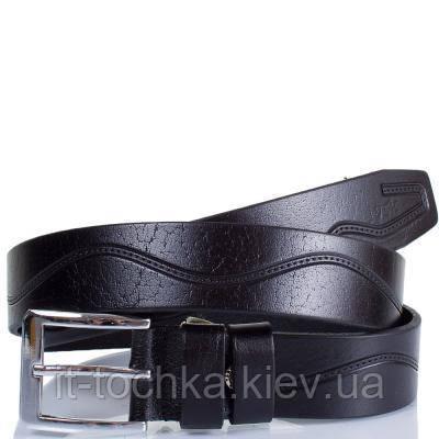 Мужской кожаный ремень с тиснением y.s.k. shi4-2084-1 черный