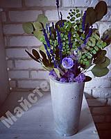 Бетонная ваза 11*20 см