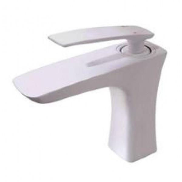 Смеситель для умывальника (Белый глянец) Newarc 981521W (Турция)