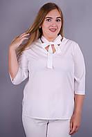 Сусана. Милая блуза плюс сайз. Белый.