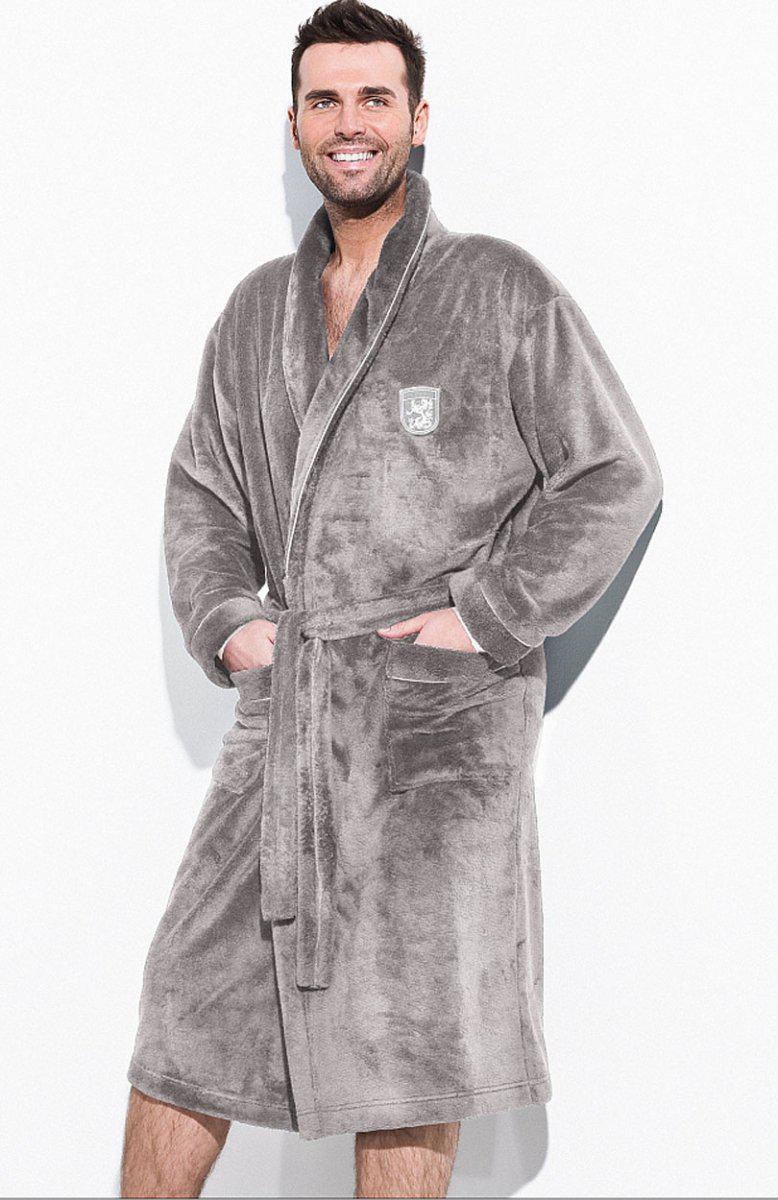 Теплый халат мужской.Nightgown L & L Борис. Польша