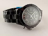Мужские часы R high-tech керамика, черные c серебром, сапфировое стекло