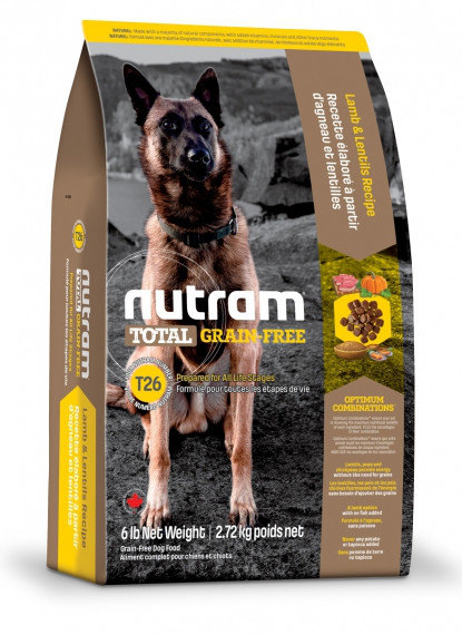 Nutram DOG GRAIN-FREE Lamb & Lentils 2.72 кг - беззерновой корм для собак (ягненок/чечевица)