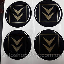 Наклейки на диски, колпачки заглушки силиконовые Citroen Ситроен, 60 мм
