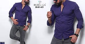 """Рубашка мужская приталенная (44;46;48;50) """"Rubaska"""" - купить оптом со склада 2P/GA-4688"""
