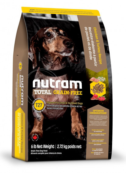 Nutram Small DOG GRAIN-FREE Turkey&Chiken 0.32 кг - беззерновой корм для собак мелких пород