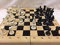 Шахматы 40 см  Украина c деревянной доской и классическими пластиковыми фигурами Стаунтона