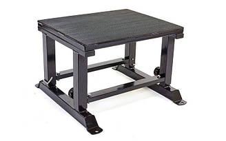 Бокс плиометрический с регулируемой высотой (1шт) PLYOBOX (металл,рез,р-р 60x65см, h-56-71см)
