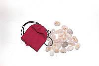 Руны из Розового Кварца (бледно-розовый полированный камень)