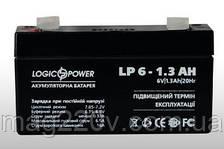 Аккумуляторная батарея 6v / 1,3AH LogicPower
