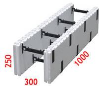 """Блок разборной с изменяемой шириной """"100х50"""" (размеры: 250х1000х от 100 до 300)"""