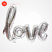 Modarina фольгированный шар-надпись love серебро 108*64 см