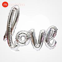 Modarina фольгований куля-напис love срібло 108*64 см, фото 1