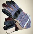 Перчатки х/б + кожа