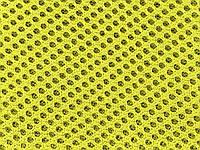 Сетка обувная на поролоне артекс (airtex) цвет желтый