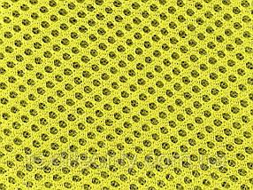 Сітка сумочно-взуттєва на поролоні артекс (airtex) колір жовтий