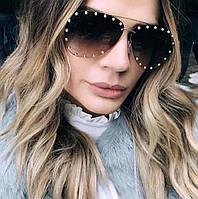 Солнцезащитные женские очки Louis Vuitton Авиатор BR 17071 кор