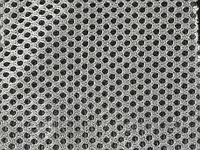 Сітка сумочно-взуттєва на поролоні артекс (airtex) колір світло сірий