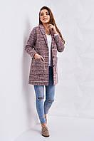 Женское шерстяное пальто на весну-осень