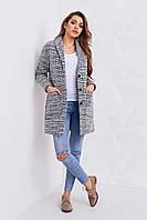 Женское демисезонное пальто на пуговицах