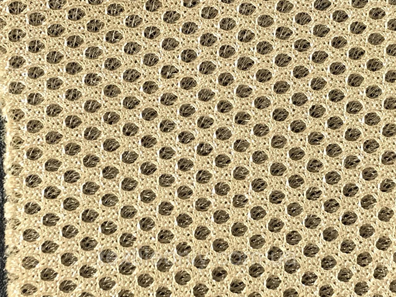 Сетка сумочно-обувная на поролоне артекс (airtex) цвет бежевый