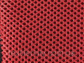 Сітка сумочно-взуттєва на поролоні артекс (airtex) колір червоний