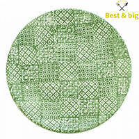 Тарелка без борта - 275 мм, Зеленая (Merxteam) Minerva