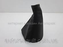 Чехол на рычаг КПП кожаный Рено Трафик II (черный) CARLIFE - GS 05