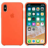 Silicone case for iPhone X (Copy) Spicy Orange