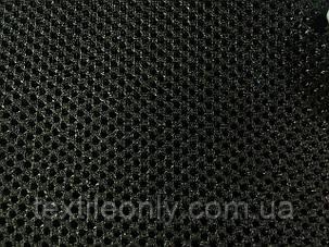 Сетка сумочно-обувная на поролоне артекс (airtex) люкс цвет черный 190 г/м2, фото 2