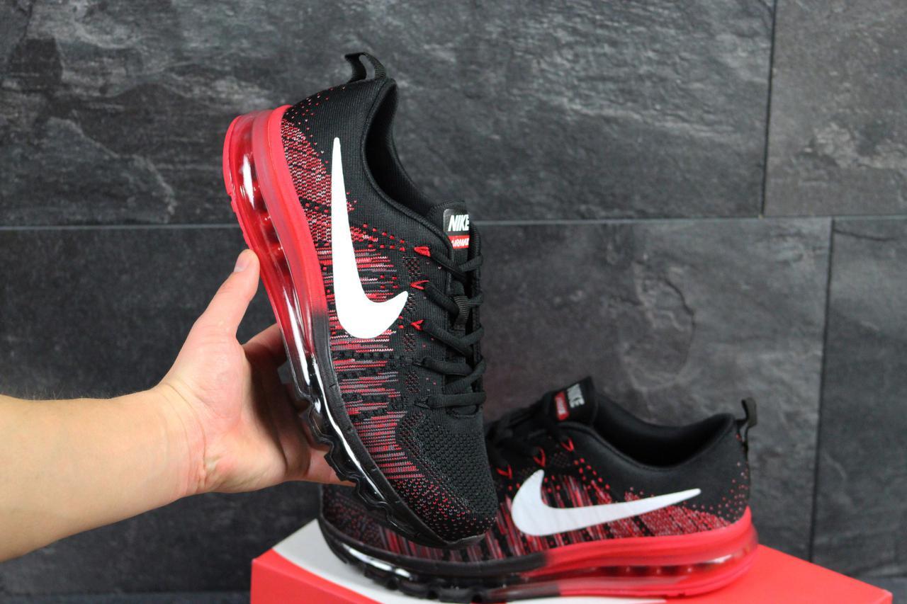 143b3897 Мужские кроссовки Nike Air Max 2017 черные с красным (Реплика ААА+) - bonny