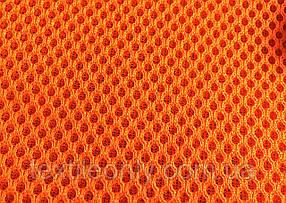 Сітка сумочно-взуттєва на поролоні артекс (airtex) колір помаранчевий